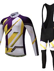 Maillot et Cuissard Long à Bretelles de Cyclisme Homme Non spécifié Manches Longues Vélo Collants Collant à Bretelles/Corsaire Bretelles