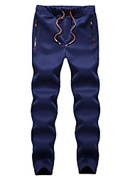 cheap -Men's Mid Rise Micro-elastic Harem Chinos Pants,Active Solid Polyester Winter Fall