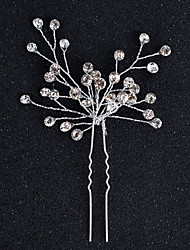 cheap -Alloy Headwear Hair Pin with Floral 1pc Wedding Special Occasion Halloween Anniversary Birthday New Baby Housewarming Congratulations