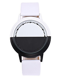 Kid's Couple's Unique Creative Watch Digital LED Touch Screen PU Band Unique Creative Black White