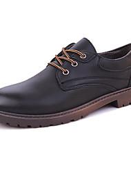Homme Chaussures Gomme Eté Automne Confort Oxfords Lacet Pour Noir Jaune Brun Foncé