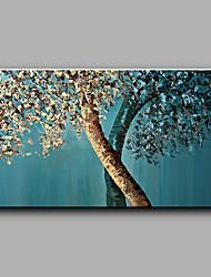 economico -Dipinta a mano Floreale/Botanical Orizzontale,Moderno Art déco/Retrò Un Pannello Tela Hang-Dipinto ad olio For Decorazioni per la casa