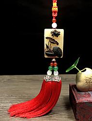 cheap -DIY Automotive Ornaments Natural Horn Gift Elegant  Car Pendant & Ornam Jade