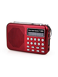 cheap -Y-869 FM Portable Radio MP3 Player TF CardWorld ReceiverBlack Red Blue