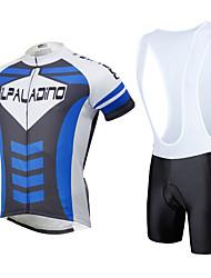 cheap -ILPALADINO Cycling Jersey with Bib Shorts Men's Women's Unisex Short Sleeves Bike Padded Shorts/Chamois Bib Tights Jersey Clothing Suits