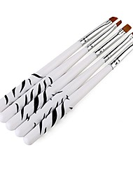 Pinpai Nail Art Painting Zebra Print 5PCS Phototherapy Nail Art Brush Set Export Original Nail Art Dotting Tools Quantity