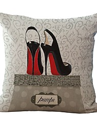 Retro Style High Heels Pattern Pillowcase Home Decor Pillow Cover