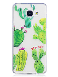 cheap -Case For Samsung Galaxy A3 (2017) A5 (2017) Case Cover Cactus Pattern Painted High Penetration TPU Material IMD Process Soft Case Phone Case