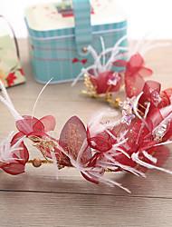economico -copricapo di fiori in piuma di stoffa in lega stile elegante