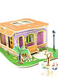 abordables -Puzzles 3D Puzzle Architecture 3D A Faire Soi-Même Bois Bois Naturel Enfant Unisexe Cadeau