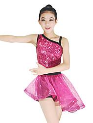 Danse classique Tenue Femme Enfant Spectacle Elasthanne Polyester Organza Paillété Tulle Ruché Ceinture/Ruban Bloc de Couleur 2 Pièces