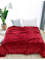 cheap -Coral fleece, Printed Solid Colored Polyester/Cotton Blend Blankets