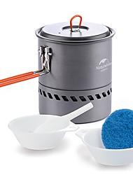 baratos -Naturehike Panela para Acampamento Jogo de Cozinha para Acampamento Único Portátil Aço Inoxidável Alumínio PP (Polipropileno) Alumina
