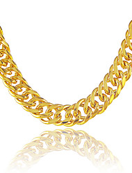 cheap -Men's Long Chain Necklace - Gold Plated Snake Statement, Personalized, Punk Gold Necklace For Party, Gift, Casual
