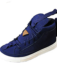 Men's Sneakers Comfort Light Soles Summer Fall Fabric Casual Outdoor Flat Heel Blue Ruby Black Flat