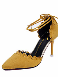 Da donna Sandali Cashmere Estate Footing Perle A stiletto Nero Giallo Verde 7,5 - 9,5 cm