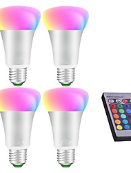 cheap -4pcs 10W LED Globe Bulbs RGB Remote-Controlled Decorative Dimmable RGB E27 LED Bulb Light Stage Lamp AC85-265V