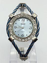 Women's Fashion Watch Wrist watch Chinese Quartz Metal Band Bangle Casual Blue Pink