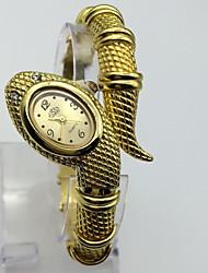 Women's Fashion Watch Wrist watch Chinese Digital Metal Band Bangle Casual Gold