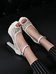 cheap -Women's Wedding Shoes Heels / Peep Toe / Platform / Comfort / Novelty / Round Toe / Open Toe SandalsWedding /