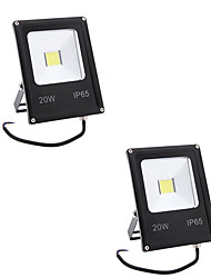 cheap -2pcs 20W IP65 Led Flood Light 2000LM Warm/Cool White Waterproof Floodlight for Home AC85-265V