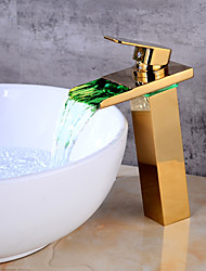 Centerset Ceramic Valve One Hole Gold , Bathroom Sink Faucet