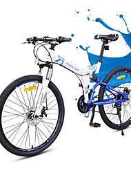 Vélo tout terrain Vélo pliant Cyclisme 24 Vitesse 26 pouces/700CC YINXING Frein à Double Disque Fourche de suspension Pliage Cadre Softail