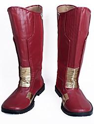 baratos -Sapatos de Cosplay Botas de Fantasia Fantasias Fantasias Anime Sapatos de Cosplay Couro Couro PU/Couro de Poliuretano Couro PUUnisexo