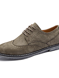 cheap -Men's Shoes Nylon Fall Winter Comfort Formal Shoes Oxfords Walking Shoes Lace-up For Wedding Casual Party & Evening Office & Career Gray