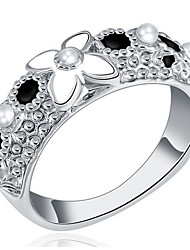 cheap -Women's Band Rings Personalized Luxury Classic Basic Sexy Love Fashion Cute Style Elegant Alloy Flower Jewelry Christmas Wedding Party