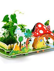 abordables -Puzzles 3D Puzzle Jouet A Assembler Bâtiment Célèbre Maison Bois Bois Naturel Unisexe Cadeau