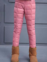 Girls' Solid Pants-Cotton Polyester Winter Black Blushing Pink Navy Blue