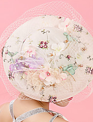 Tulle Chiffon Lace Fabric Silk Net Headpiece-Wedding Special Occasion Birthday Party/ Evening Fascinators Hats Hair Clip 1 Piece