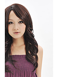 Good Quality Natural Wig For Women Female Wig Black Long Wavy Synthetic Fiber Wig