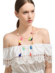 cheap -Women's Line Shape Bohemian Sexy Multi Layer Handmade Fashion Pendant Necklace Chain Necklace Layered Necklace Alloy Pendant Necklace
