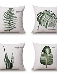 cheap -4PCS Green Plant Style Pillowcase Home Decor Pillow Cover