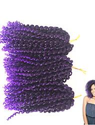 """economico -Ricci intrecciati Trecce di capelli Ricci Jheri 12"""" 10"""" 100% capelli kanekalon Capelli 100% Kanekalon Nero / Medium Auburn Nero /"""