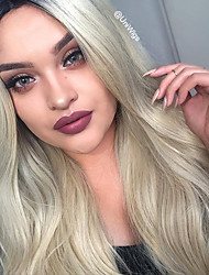 cheap -Synthetic Lace Front Wig Wavy Blonde Synthetic Hair Natural Hairline Red / Blonde Wig Women's Long Lace Front Blonde