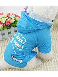 cheap -Dog Rain Coat Dog Clothes Letter & Number Orange Fuchsia Blue Fabric Costume For Pets Men's Women's Casual/Daily