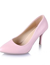 cheap -Women's Shoes Synthetic / Patent Leather / Leatherette Spring / Summer Heels Walking Shoes Stiletto Heel Polka Dot Red / Pink / Almond