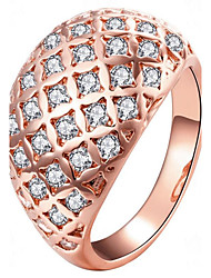 cheap -May Polly Europe and America zircon crystal full Diamond Rose Gold fashion lady ring