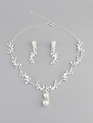 cheap -Women's Rhinestone / Imitation Pearl Jewelry Set - Basic Silver Pendant Necklace For Wedding / Party / Halloween
