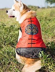 Недорогие -Собака Жилет Одежда для собак Теплый Новый год Цветочные/ботанический Костюм Для домашних животных
