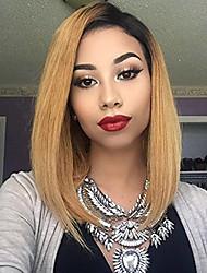 billige -Remy hår Blonde Front Paryk Lige 130% Massefylde 100 % håndbundet Afro-amerikansk paryk Natural Hairline Faux Locs Paryk Kort Medium Dame