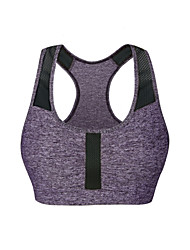 cheap -Jaggad Racerback Sports Bra Padded Light Support For Yoga - Violet Fast Dry, Breathability, Stretchy Women's Mesh Spandex