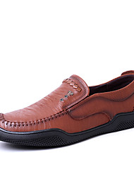 Men's Loafers & Slip-Ons Formal Shoes Driving Shoes Comfort Light Soles Fall Winter Real Leather Cowhide Nappa Leather Wedding Casual