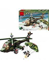 economico -Costruzioni Figure a costruzioni Elicottero Giocattoli Elicottero Militare Pezzi