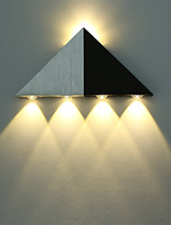 cheap -Modern Triangle 5W LED Wall Sconce Light Fixture Indoor Hallway Up Down Wall Lamp Spot Light Aluminum Decorative Lighting for Studio Restauran