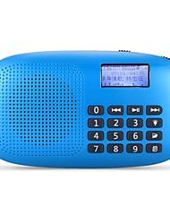 baratos -X360 FM Rádio portátil Relogio Despertador / Despertador Cartão SD Receptor do mundo Branco / Vermelho / Azul