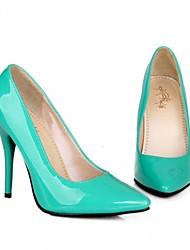 Da donna Scarpe Vernice Primavera Estate Comoda Tacchi A stiletto Per Casual Serata e festa Giallo Rosso Verde Blu Rosa